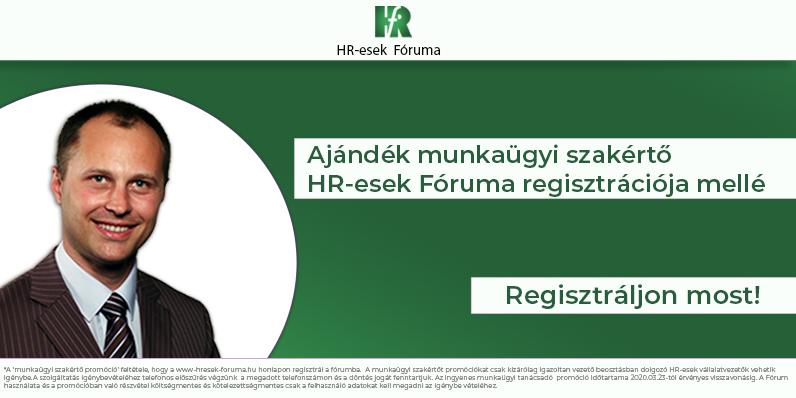 Legyen saját munkaügyi szakértője HR-esek Fóruma tagságával